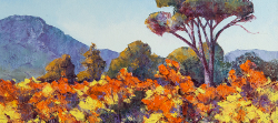 Autumn Vines - Grande Provence Franschhoek III | 2019 | Oil on Canvas | 44 x 62 cm