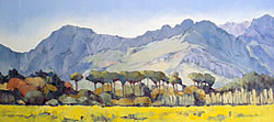 Klein Drakenstein near Paarl | 2012 | Oil on Canvas | 36 x 80 cm
