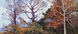 Autumn Trees - Franschoek Valley | 2016 | Oil on Canvas | 46 x 64 cm