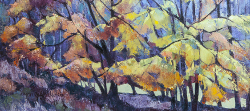 Nature's Stained Glass Window - Autumn Tree Study - Scotland III | 2014 | Oil on Canvas | 46 x 64 cm